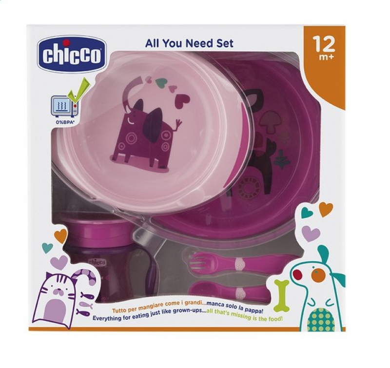 CHICCO SET PAPPA PINK